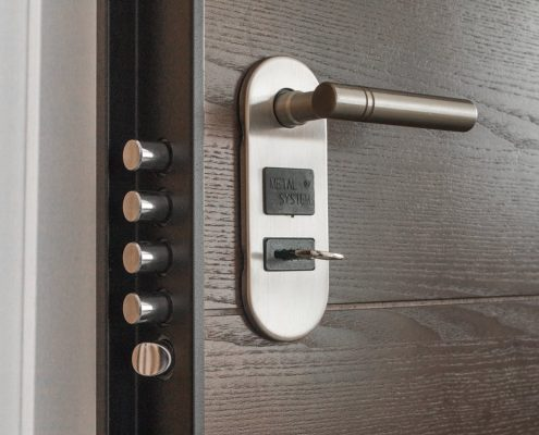 smart lock on door