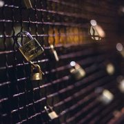padlocks on fence